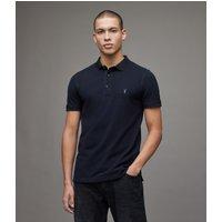 AllSaints Mens Navy Blue Cotton Essential Reform Polo Shirt, Size: M