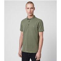 AllSaints Men's Cotton Slim Fit Reform Polo Shirt, Green, Size: S