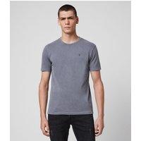 AllSaints Men's Cotton Slim Fit Ossage Crew T-Shirt, Blue, Size: M