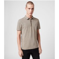AllSaints Men's Cotton Regular Fit Brace Short Sleeve Polo Shirt, Green, Size: XS