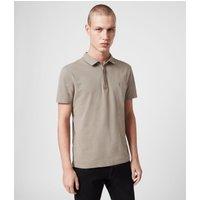 AllSaints Men's Cotton Regular Fit Brace Short Sleeve Polo Shirt, Green, Size: M