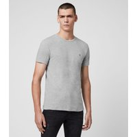 AllSaints Men's Cotton Regular Fit Tonic Crew T-Shirt, Grey, Size: L