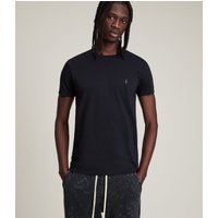AllSaints Men's Cotton Regular Fit Tonic Crew T-Shirt, Blue, Size: L