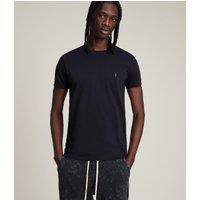 AllSaints Men's Cotton Slim Fit Tonic Crew T-Shirt, Navy, Size: XS