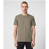 AllSaints Men's Cotton Slim Fit Tonic Crew T-Shirt, Grey, Size: S