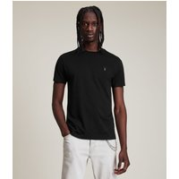 AllSaints Men's Cotton Slim Fit Regular Tonic Crew T-Shirt, Black, Size: M