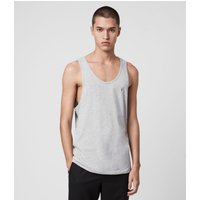 AllSaints Men's Cotton Lightweight Tonic Vest, Grey, Size: XL