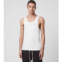 AllSaints Men's Cotton Lightweight Tonic Vest, White, Size: XS