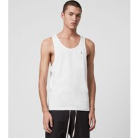 AllSaints Men's Cotton Lightweight Tonic Vest, White, Size: XL