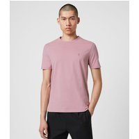 AllSaints Men's Cotton Regular Fit Brace Tonic Crew T-Shirt, Pink, Size: XS