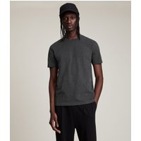AllSaints Men's Cotton Slim Fit Brace Tonic Short Sleeve Crew T-Shirt, Dark Grey, Size: XS
