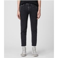 AllSaints Dean Cropped Slim Jeans, Washed Black