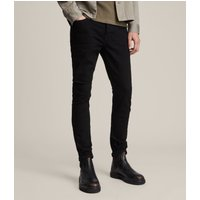 AllSaints Men's Cotton Cigarette Skinny Jeans, Black, Size: 31