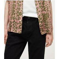 AllSaints Men's Cotton Cigarette Skinny Jeans, Black, Size: 31