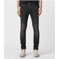 AllSaints Mens Black Cotton Comfortable Cigarette Skinny Jeans, Size: 31