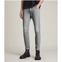 AllSaints Men's Cotton Traditional Cigarette Skinny Jeans, Grey, Size: 31