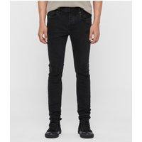 AllSaints Cigarette Damaged Skinny Jeans, Black