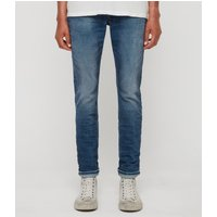 AllSaints Rex Slim Jeans, Light Indigo Blue
