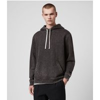 AllSaints Men's Cotton Relaxed Fit Reid Pullover Hoodie, Black, Size: L