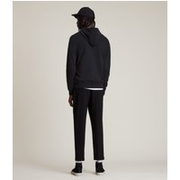 AllSaints Men's Cotton Regular Fit Brace Hoodie, Black, Size: XXL