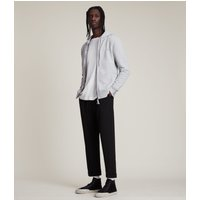AllSaints Men's Cotton Slim Fit Raven Hoodie, Grey, Size: S
