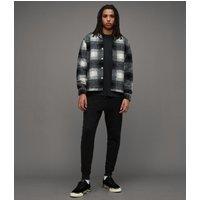 AllSaints Men's Slim Fit Cotton Raven Cuffed Sweatpants, Black, Size: XS