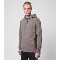 AllSaints Men's Cotton Regular Fit Raven Pullover Hoodie, Grey, Size: S