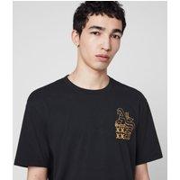 AllSaints Men's Cotton Relaxed Fit Ex Mono Crew T-Shirt, Black, Size: M