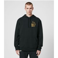 AllSaints Men's Cotton Relaxed Fit Ex Mono Hoodie, Black, Size: M