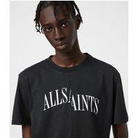 AllSaints Men's Cotton Relaxed Fit Dropout Crew T-Shirt, Black, Size: S