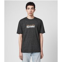 AllSaints Men's Cotton Relaxed Fit Candelabrum Crew T-Shirt, White and Black, Size: S