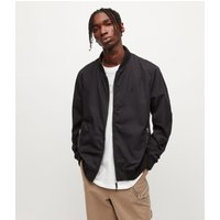 AllSaints Men's Cotton Regular Fit Bassett Bomber Jacket, Black, Size: L