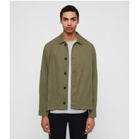 AllSaints Men's Cotton Regular Fit Ruston Jacket, Green, Size: S