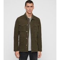AllSaints Men's Cotton Regular Fit Baynes Jacket, Green, Size: S
