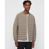 AllSaints Men's Regular Fit Albion Jacket, Grey, Size: XS