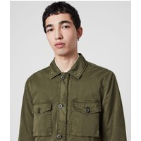 AllSaints Men's Cotton Colridge Jacket, Green, Size: S