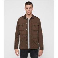 AllSaints Men's Cotton Lightweight Temple Jacket, Brown, Size: S
