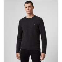 AllSaints Men's Regular Fit Cotton Tolnar Crew Jumper, Black, Size: S