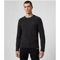 AllSaints Men's Cotton Regular Fit Tolnar Crew Jumper, Black, Size: XXL