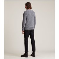 AllSaints Men's Merino Wool Regular Fit Ivar Crew Jumper, Grey, Size: XS