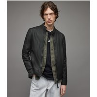 AllSaints Men's Sheep Leather Regular Fit Colt Jacket, Black, Size: S