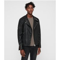 AllSaints Men's Leather Jasper Biker Jacket, Black, Size: XS