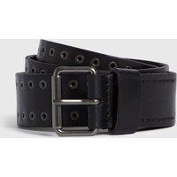 AllSaints Men's Leather Jace Belt, Black, Size: 32