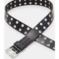 AllSaints Men's Leather Sturge Belt, Black, Size: 34