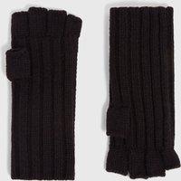AllSaints Ribbed Cut Off Finger Wool Blend Gloves
