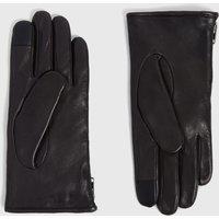 AllSaints Zipper Leather Gloves