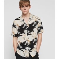 AllSaints Men's Slim Fit Talon Shirt, Black, Size: S