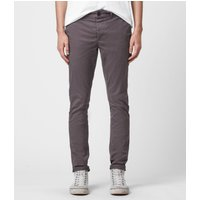 AllSaints Men's Cotton Lightweight Park Skinny Chinos, Grey, Size: 33