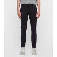 AllSaints Men's Cotton Lightweight Park Skinny Chinos, Blue, Size: 33