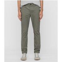 AllSaints Men's Cotton Essential Felix Slim Chinos, Grey, Size: 30